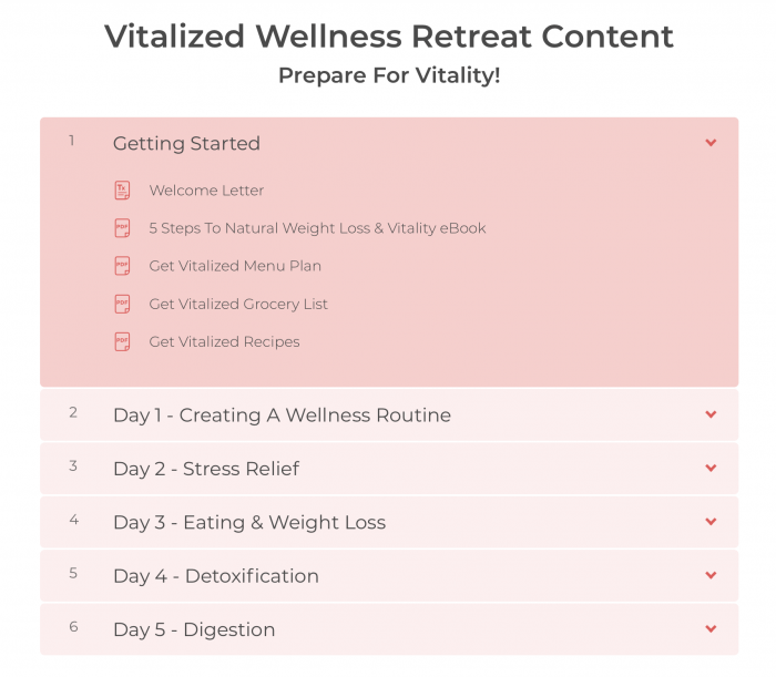 Online Wellness Retreat